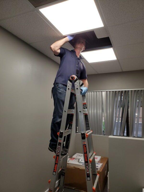 Drop panel ceiling inspection
