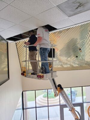 Ceiling inspection of commercial building